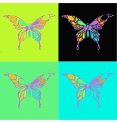 Many different butterflies flying vector