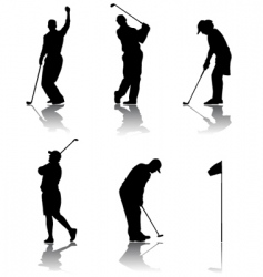Golf player vector