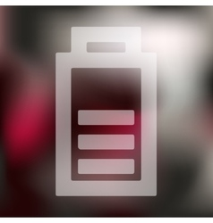 Charge the battery icon on blurred background vector