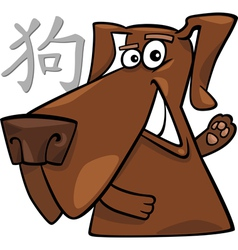 Dog chinese horoscope sign vector