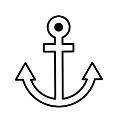 Anchor ship maritime icon vector