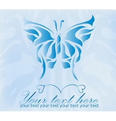 Beautiful vintage blue butterfly vector image vector image