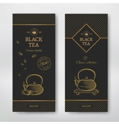 Black tea design package vector image vector image