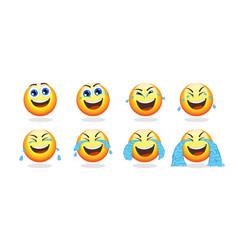 cartoon emoji animation collection vector image vector image