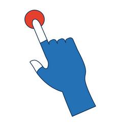 Click hand icon pointer finger cursor vector