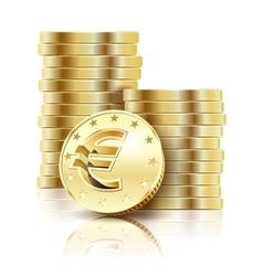 coins gold euro vector image vector image
