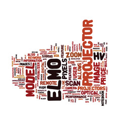 Elmo projector text background word cloud concept vector