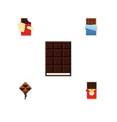 flat icon sweet set of dessert chocolate bar vector image vector image