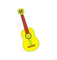 guitar instrument musical carnival design vector image
