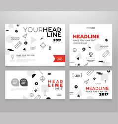 Headline banner - template vector