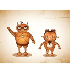 Hipster friendly robots vector image