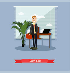 Lawyer in flat style vector