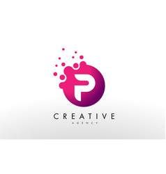 Letter p logo p letter design vector