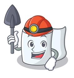 Miner tissue character cartoon style vector