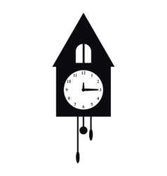 Old wall clock icon simple style vector