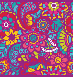Paisley seamless colorful pattern vector