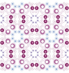Purple floral seamless pattern vector image vector image