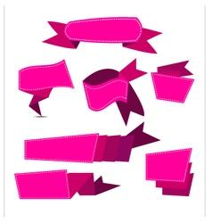 Ribbon pinjk vector
