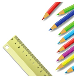 Ruler and pencils vector