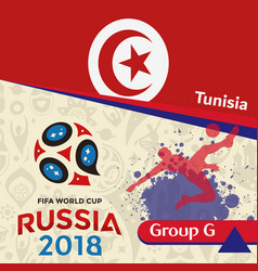 Russia 2018 wc group g tunisia background vector