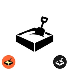 Sandbox icon Black sign with color and inverted vector image