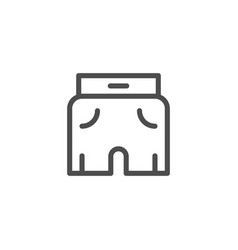 Shorts line icon vector