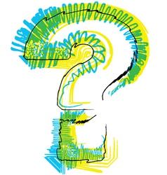 Sketch question mark Symbol vector image