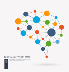 Smart digital brain idea futuristic neural vector