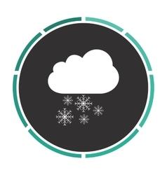 Snowfall computer symbol vector