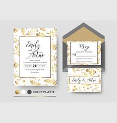 wedding invite invitation rsvp poscard stylish vector image vector image