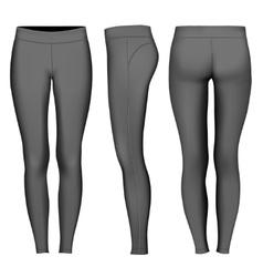 Women full length tights vector
