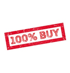 100 percent buy rubber stamp vector image vector image