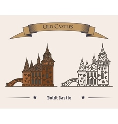 Boldt castle on heart island for tourist vector