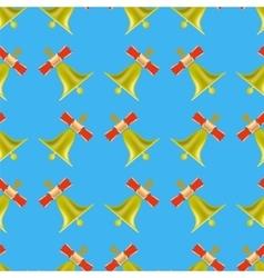 School Bell Seamless Pattern vector image