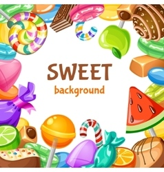 Sweet candy background vector