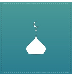 Mosque dome icon vector