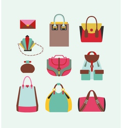 Collection of woman bags vector