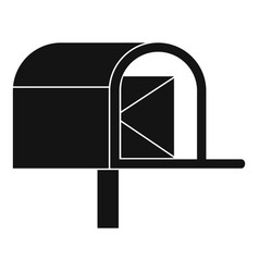 Mailbox icon simple style vector