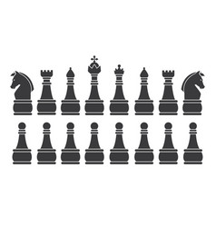 Black chess set vector