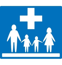 Family medicine icon vector