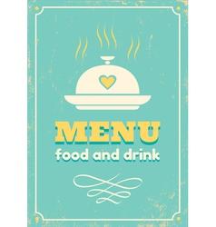 menu grunge vector image
