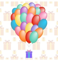 A cloud of balloons gift patterns seamless vector
