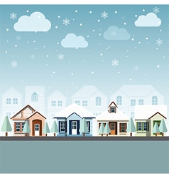 Cityscape winter 2 vector