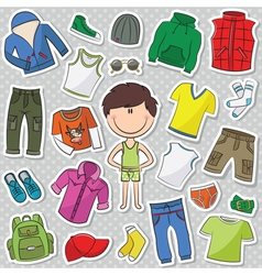 Casual clothes for boys vector