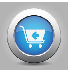Blue button - shopping cart back vector