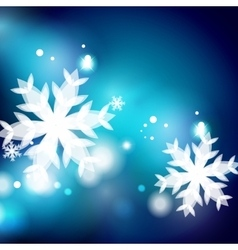 Holiday blue abstract background winter vector