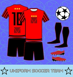 Uniform soccer team sportswear template vector