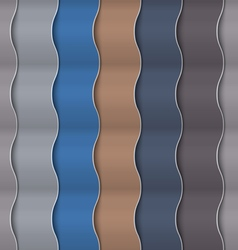 Paper vertical seamless wavy pattern vector