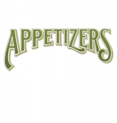 appetizers vector image
