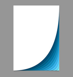 Blank page template from curved layers - vector
